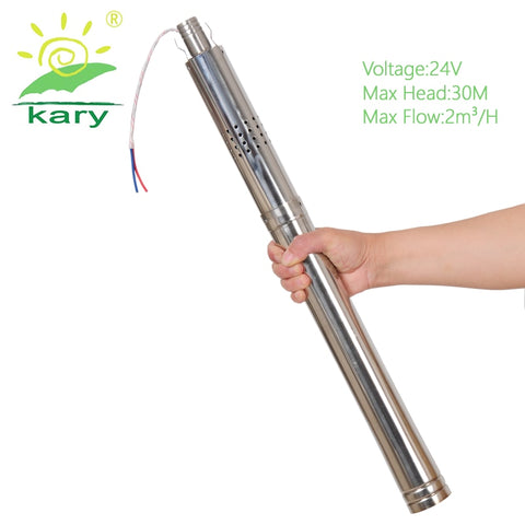 "Kary Solar Bore Pump 2"" - 24 V / 30 Max Head / 290 W / 2000 LPH"