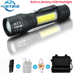 T6 / COB Tactical Military LED Flashlight - With Charger