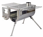 Woodlander Camping stove (Double View) - Large Size / Stainless Steel