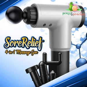 SoreRelief 4-in-1 Massage Gun