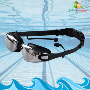 2-in-1 Swimming Goggles with Earplugs