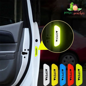 Open Car Door Reflective Warning Sticker