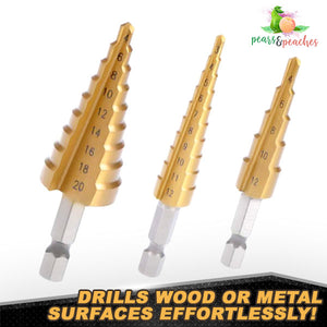 High-Speed Titanium Step Drill Bits