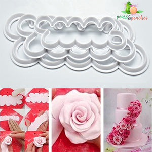 Rose Fondant Cutter Set