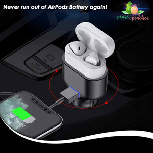 2 in 1 AirPods Car Charger
