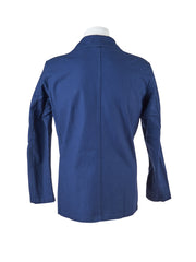 Marinefarbenes, mittellanges Worker-Overshirt