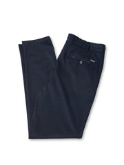 Dunkelblaues Woll-Jersey Joggpant