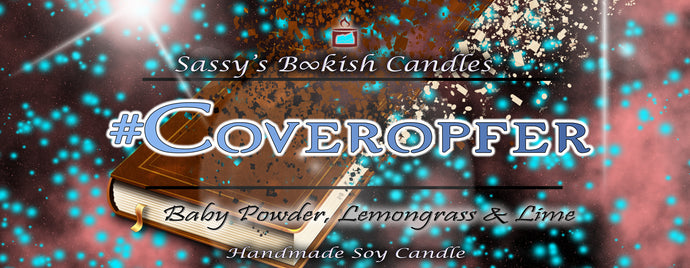 Coveropfer - Baby Powder, Lemongrass & Lime - Bookish Candle