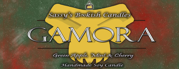 Gamora - Green Apple, Mint & Cherry - Bookish Candle
