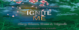 Ignite Me - Cherry Blossom, Breeze & Magnolia - Bookish Candle