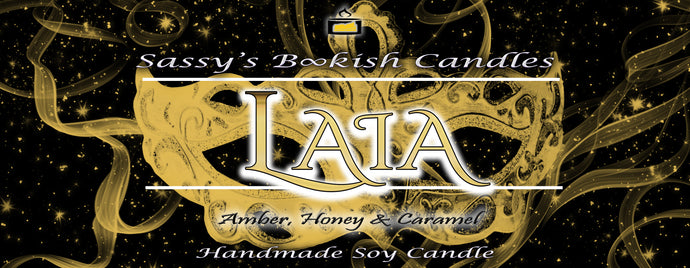 Laia - Amber, Honey & Caramel - Bookish Candle