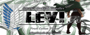 Levi - Fresh Cotton Flower - Bookish Candle