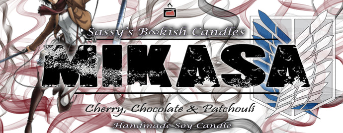 Mikasa - Cherry, Chocolate & Patchouli - Bookish Candle