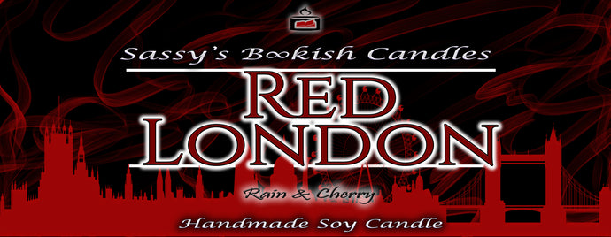Red London - Rain & Cherry - Bookish Candle