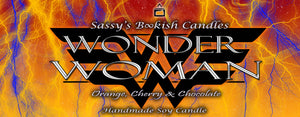 Wonder Woman - Orange, Cherry & Chocolate - Bookish Candle