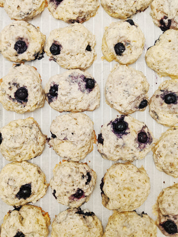 Blueberry Lemon Glazed Biscone