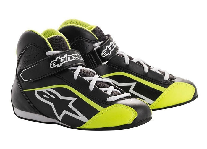 Alpinestars Boots Tech 1 K S Black Youth | White | Yellow Fluro