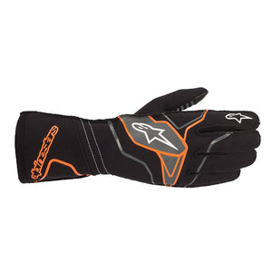 Alpinestars Gloves Tech 1 KX V2 Black | Orange Fluro