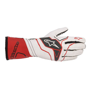 Alpinestars Gloves Tech 1 KX V2 White | Red | Black