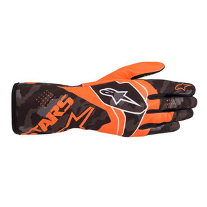 Alpinestars Gloves Tech 1 K Race S. Youth V2 Camo Orange Fluro | Black