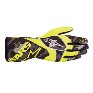 Alpinestars Gloves Tech 1 K Race V2 Camo Yellow Fluro | Black