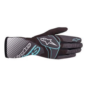 Alpinestars Gloves Tech 1 K Race V2 Black | Turquoise