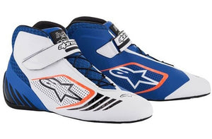 Alpinestars Boots Tech 1 KX Blue | White | Orange Fluro