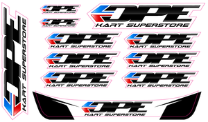 DPE Sticker Sheet DPE Logos | Visor Sticker