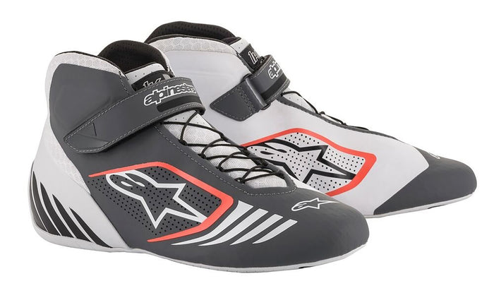 Alpinestars Boots Tech 1 KX White | Grey | Red Fluro