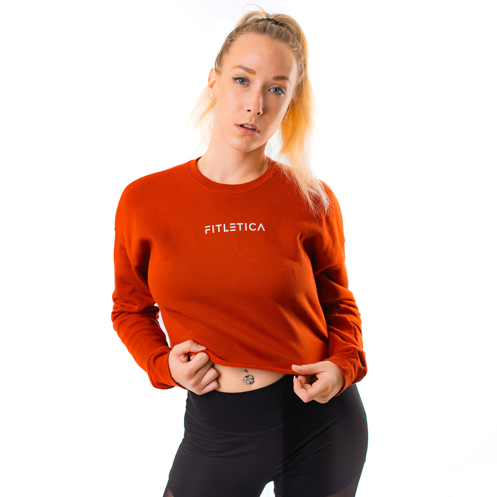 Cropped Fleece - Brick