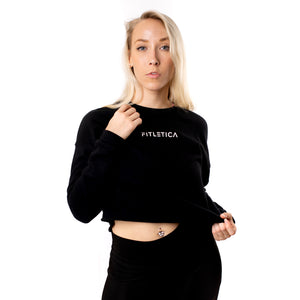 Cropped Fleece - Black