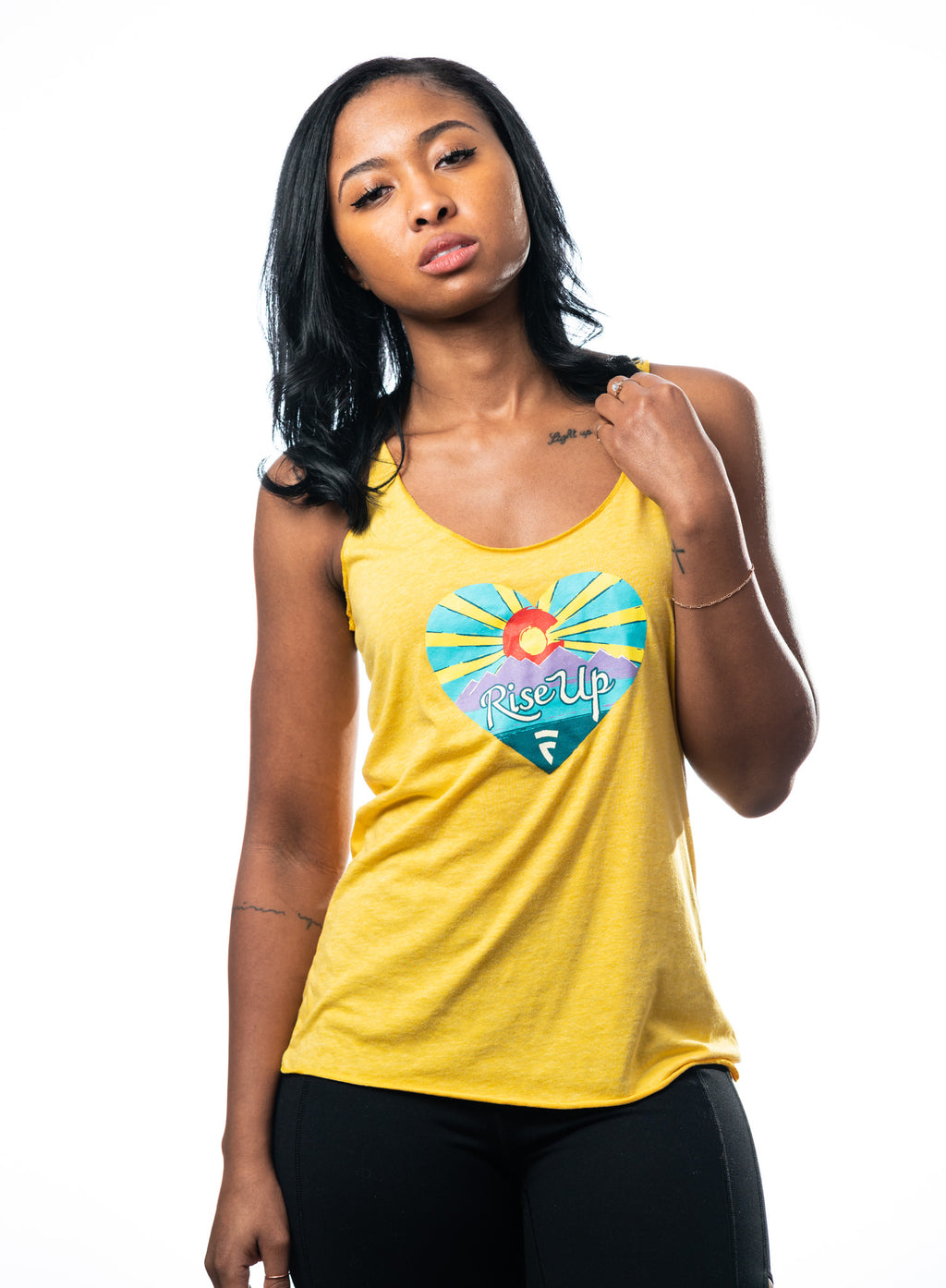 Rise Up Tank - Yellow
