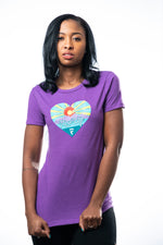Rise Up Tee - Violet