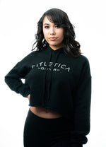 DNVR Cropped Hoodie - Midnight Black