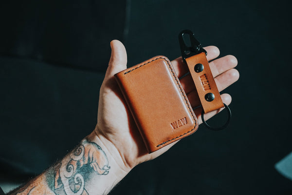 Whiskey & Wolf Wallet and Key Clip