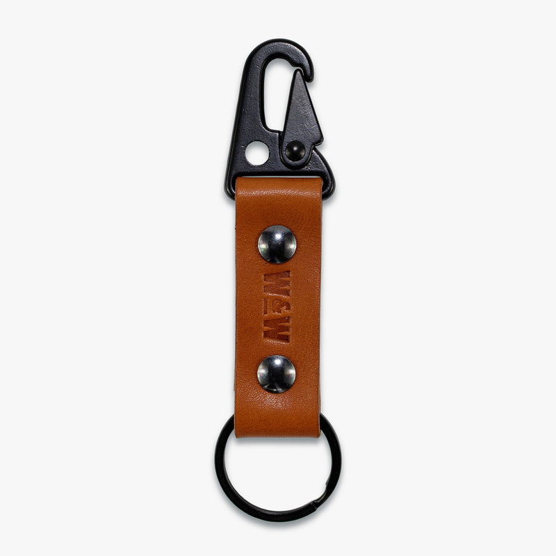 Classic Leather Key Clip (Tan)