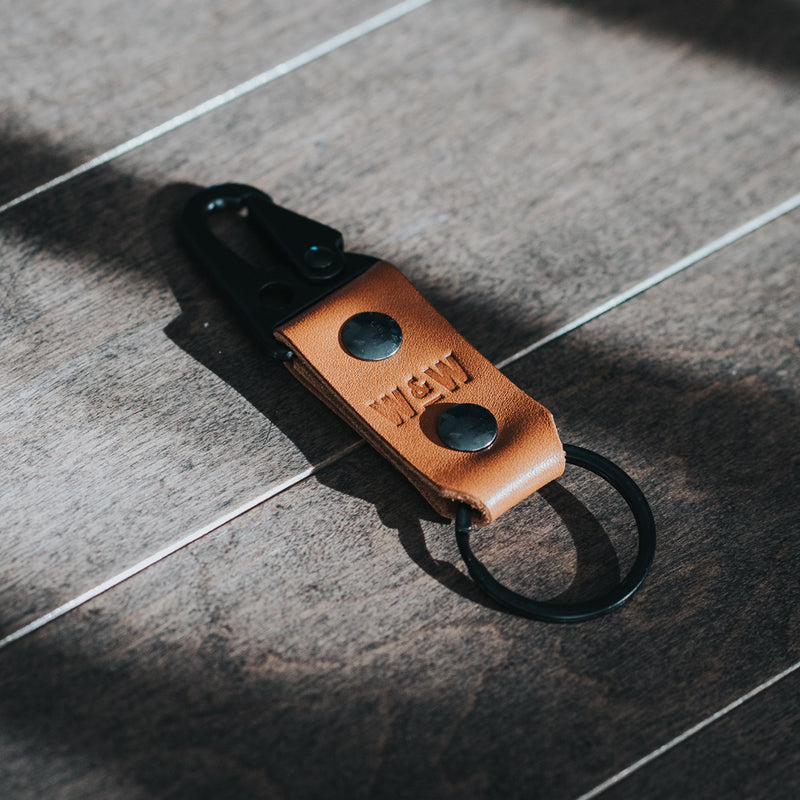 Mini Key Clip (Tan)