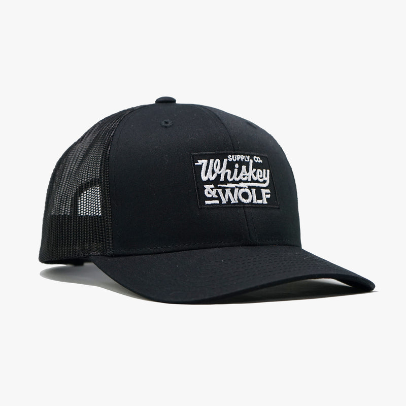 classic trucker cap hat made by whiskey and wolf supply co