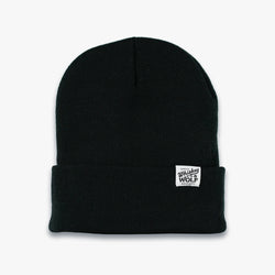 whiskey and wolf supply co black beanie