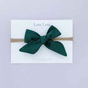 Forest Green - Polly Bow