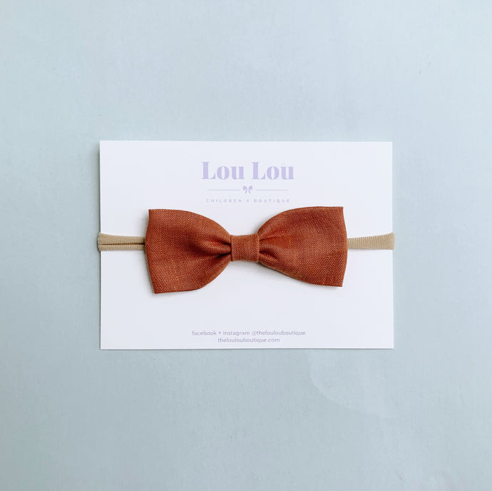 Terracotta Linen - Milly Bow