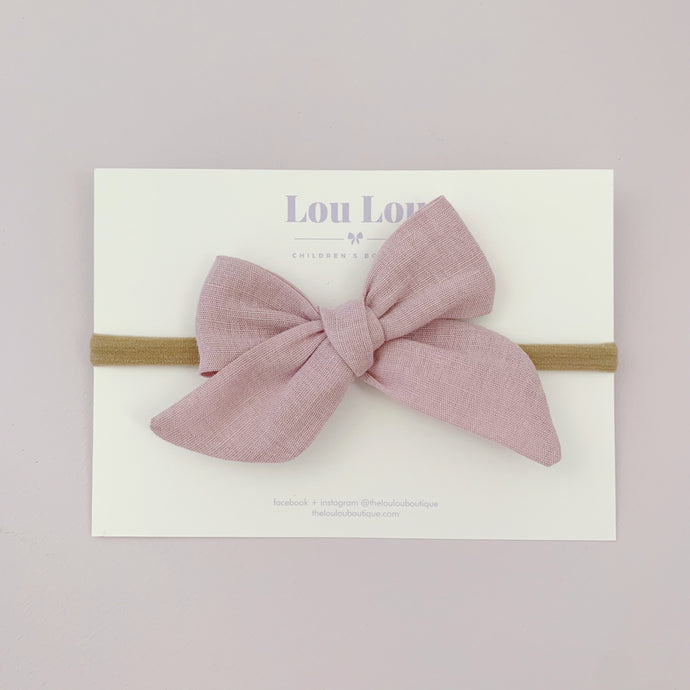 Mauve Linen - Polly Bow
