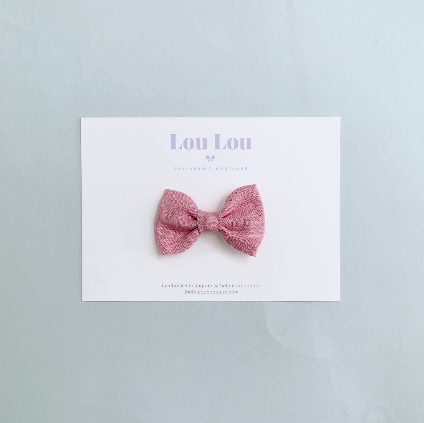 Cloudy Pink - Mini Milly Bow