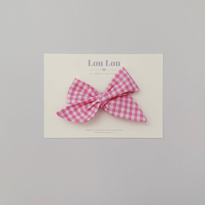 ~ PREORDER ~ Pink Gingham- Bows