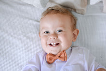 Load image into Gallery viewer, Terracotta Linen - Baby Bow Tie