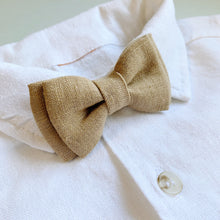 Load image into Gallery viewer, Cocoa Linen - Baby Bow Tie