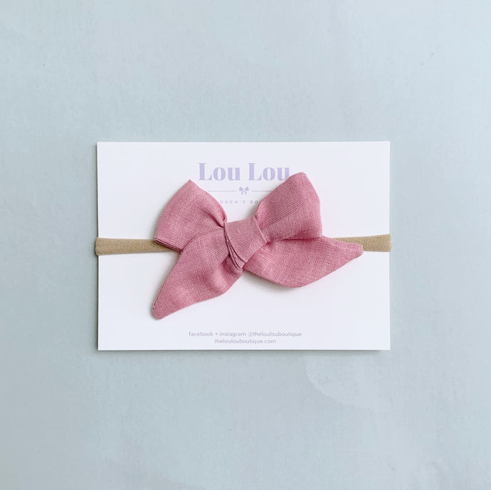 Cloudy Pink - Polly Bow