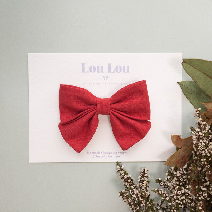 Christmas Red - Small Sadie Bow