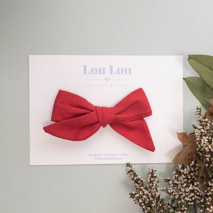 Christmas Red - Polly Bow