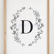 Load image into Gallery viewer, D || Nursery Print || digital download